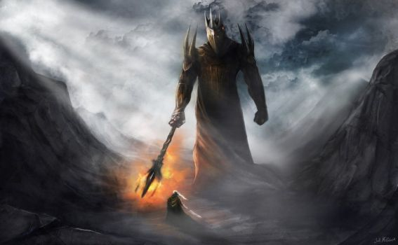 morgoth_and_fingolfin_by_jmkilpatrick-d4l7kqe